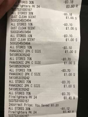 70% off Electrical (inc batteries). 50% off homeware at Poundworld