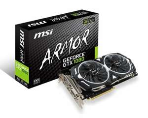 MSI GTX 1080 ARMOR OC 8GB GDDR5X Graphics Card £449.98 @ Ebuyer