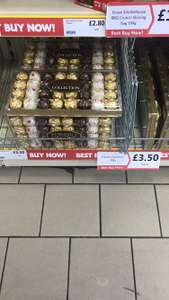 Ferrero Rocher 32 piece box 395g only £3.50 at heron foods