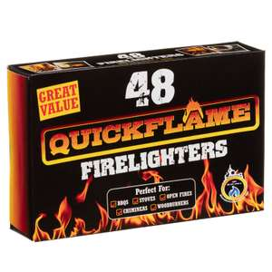 48 Quickflame BBQ firelighters X2 boxes now £2 @ B&M