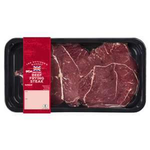 The Butcher's Market British Beef Frying Steak 500g £2 @ Iceland