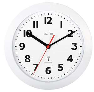 Is it time for a new clock in your life? Acctim 74312 Parona Radio Controlled Wall Clock, White £7.99 prime / £13.84 non prime @ Amazon