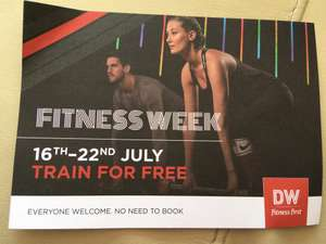 Free week gym pass to DW nationwide