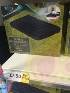 Double air bed £7.50 single £5 at Tesco instore