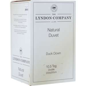 THE LYNDON COMPANY  Double 10.5 Tog Duck Down & Feather Duvet - £77 @ TK Maxx