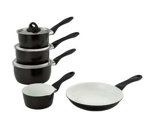 Ceramic 5 Piece Pan Set with a Carbon Steel outer - Half Price £35.99 @ Argos