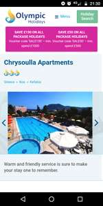 From Manchester: 14 July Family Holiday 1 Week Half Board to Kos £234pp @ Olympic