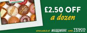 £2.50 voucher off a sharer dozen of Krispy Kreme donuts making them £9.95 usually £12.45 @ KrispyKreme/Tesco stores