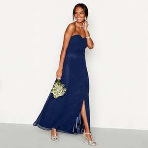 Debut Navy chiffon 'Sara' full length bridesmaid dress (was £79) Now £23.70 + upto 70% more Bridesmaid dresses with prices from £19.50 at Debenhams