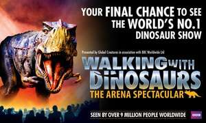 Walking with Dinosaurs (50% off) £15.03 with code at theticketfactory