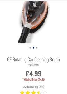 GF Rotating car cleaning Brush. - £4.99 @ Argos