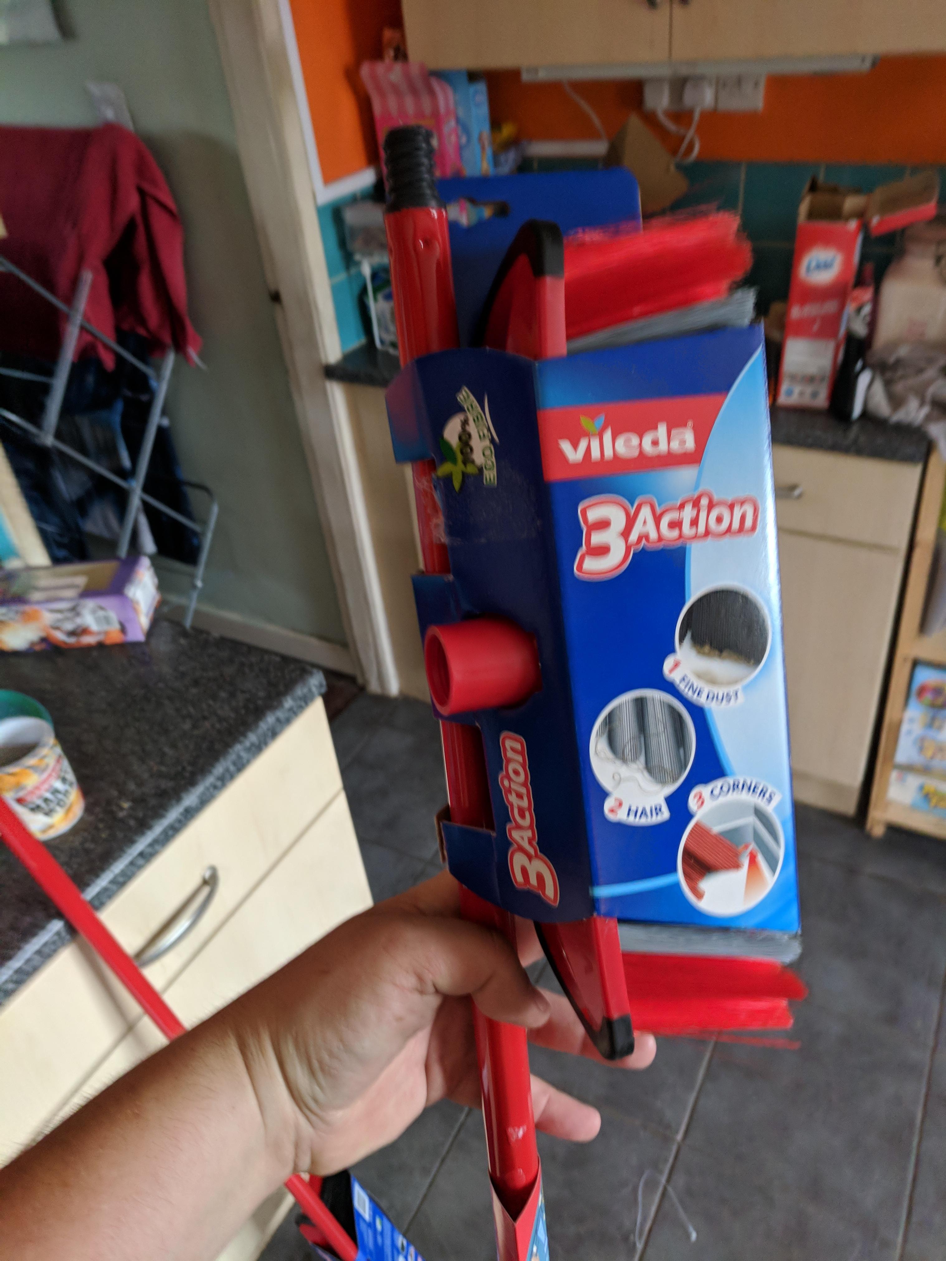 Vileda 3 Action Broom Red instore sutton in ashfiled asda- £2