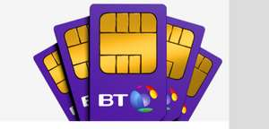 15GB data, ultd calls and txt Sim only deal from BT mobile 12 mnths X £18 = £216. £65 TCB (£6.75PM after TCB) 12 month contract for BT broadband customer. for non customer add £5pm