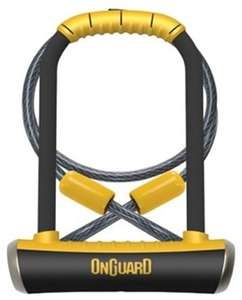 OnGuard Pitbull DT Shackle U-Lock Plus Cable - Gold Sold Secure £23.98 @ Tredz