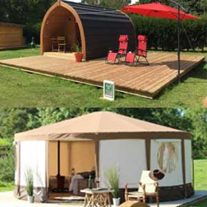 TWO Night Glamping Break at The New Forest Dorset for 2 Adults - Prices from £36 / Works out £9pppn @ Wowcher  (Bell Tents / Pods / Lodges Available - Various Dates)
