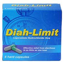 "Diah-Limit Loperamide Hydrochloride diarrhoea relief ""Hard Capsules"" 49p @ Savers"