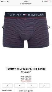 Tommy Hilfiger boxers £8.00 each at Topman £7.20 with student discount