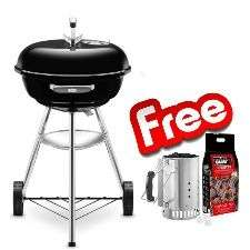 WEBER Kettle Charcoal BBQ 47cm Free Rapidfire Chimney Starter Set Delivered Free @ WEBER - £79.99