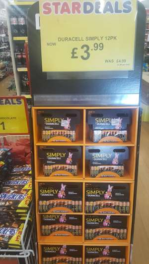 12 pack Duracell AA/AAA £3.99 instore @ Poundstretcher