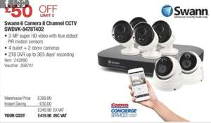 Swann - Professional Security System - SWDVK-8478T4D2 (4 bullets + 2 dome camera) £419.98 @ Costco warehouse