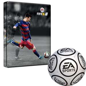 Fifa 16 Pack (steelbook and mini football) £1.99 @ Game + Free Delivery