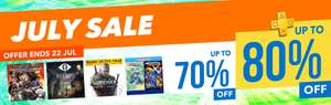 July Sale at PlayStation PSN Store Asia *Dead Nation £0.96p Mass Effect Andromeda £7.47 Infamous First Light £3.60 Fat Princess £2.96 Batman Telltale £7.00 Little Nightmares £3.39 Megaman Legacy £5.17 God Eater 2 £8.20 The Witcher 3 £13.95
