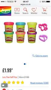 Play doh sparkle set £1.99 from Argos