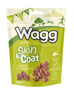 Wagg Skin and Coat Dog Treats - 7pk £5.60 prime / £10.09 non prime at Amazon