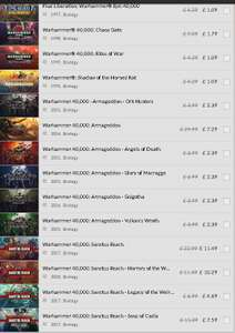 Warhammer Series at Gog 75% off for 3 Days only - Prices start at £1.09 @ GOG