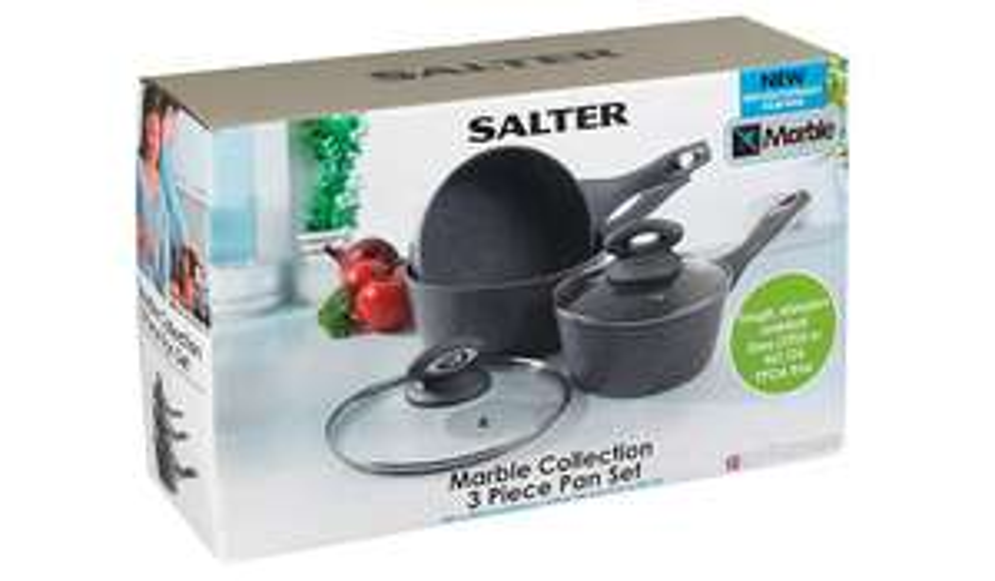 Salter 3 piece Marble Collection Pan Set £10 @ Asda - Eastgate (Basildon)