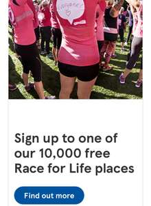Free race for life entry for women