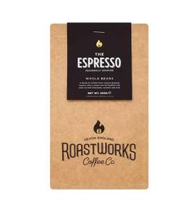 Roastworks The Espresso Whole Coffee Beans 200g 20% OFF £4.40 at Waitrose