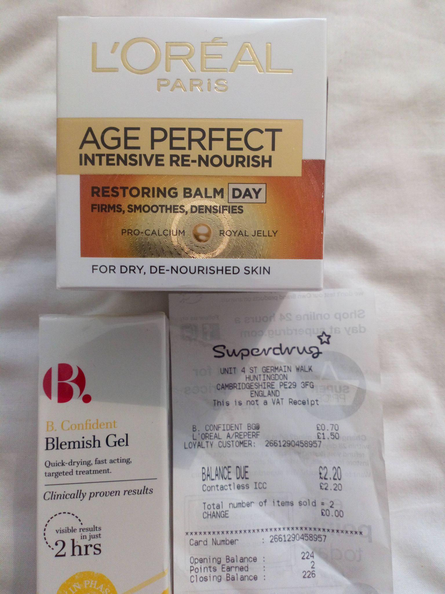 L'Oréal age perfect intensive re-nourish (day) - £1.50 instore @ Superdrug