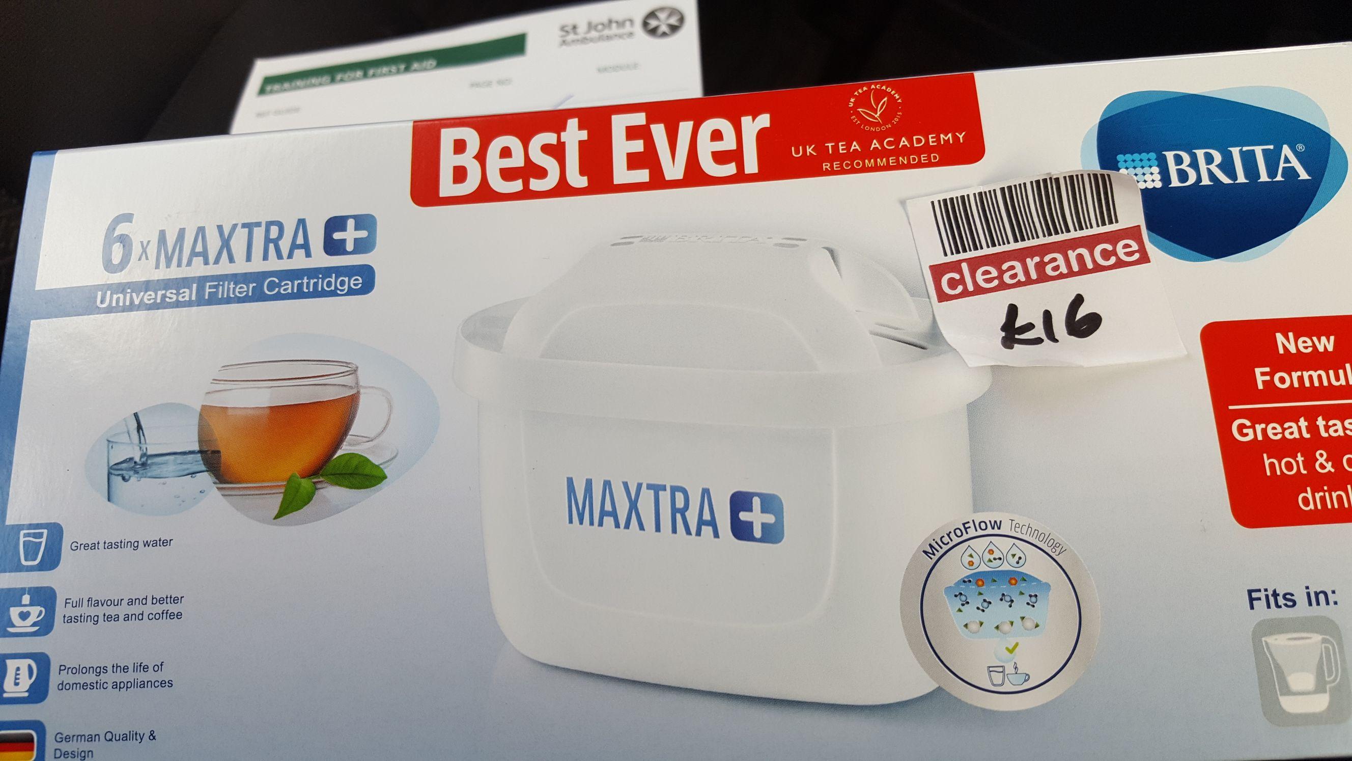 6 water filter cartridges. Maxtra +. Boots in store @ Harrow wealdstone £10.66
