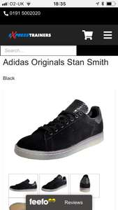Adidas Originals Stan smith men's Black CW £28.99 at express trainers with code sale20