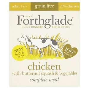 Forthglade Dog Food Grain Free Complete Meals. Any five for £5 at Morrison's.
