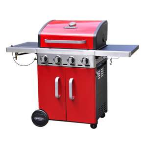 Outback Apollo 4 Burner Gas BBQ - Red  was £399 now  £199 @ homebase