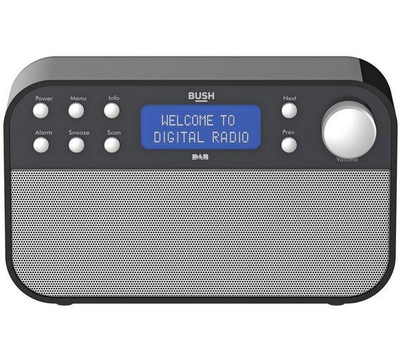 Bush DAB Radio - Black - White/Silver £29.99 @ Argos (free C&C)