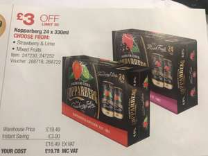 Kopparberg 24 x 330ml Only £19.78 @ Costco