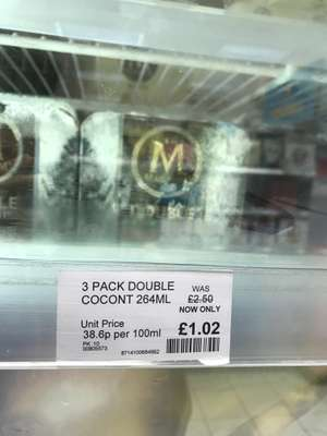 Magnum Double Coconut 3 Pack £1.02 in store @ Co-op