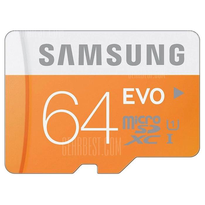 x2 Units Samsung 64GB EVO Class 10 Micro SDXC 48MB/s (£13.50each) £27 @ Gearbest