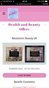 Up to 70% off at Revolution Beauty Sale palette in pic (144 shadows is now £10)!
