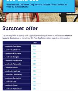Beach days out with South Eastern Trains - from £15