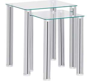 HOME Matrix Nest of 2 Glass Tables - Clear Also Black  £29.99 @ Argos Please see Desription