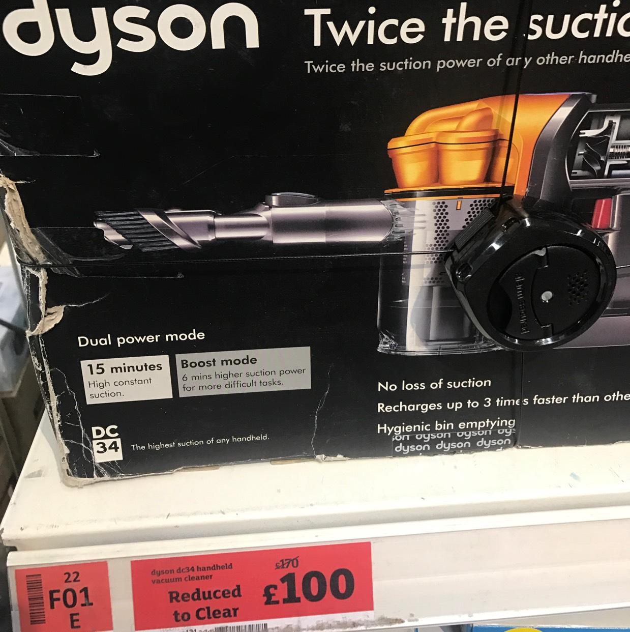 Dyson DC34 handheld - £100 instore @ Sainsburys (Haringey)