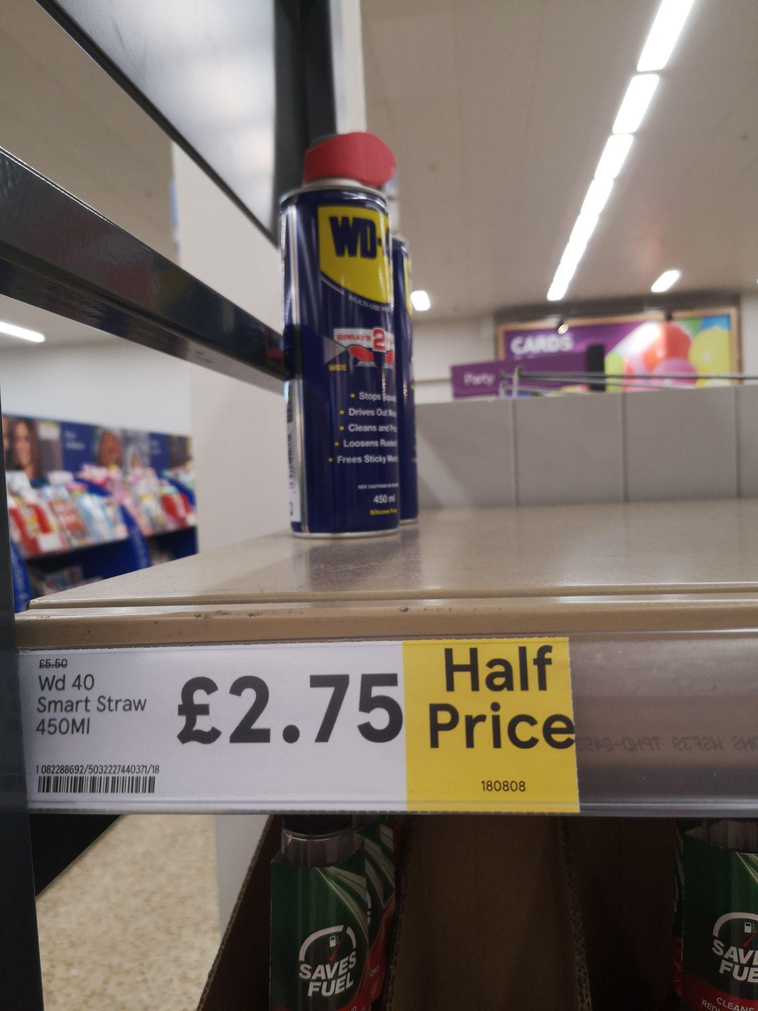 Wd40 spray 450ml - £2.75 instore @ Tesco