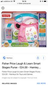 Fisher price-Smart stages purse was £19.99 now £9.99 Smyths toys