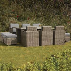 Royalcraft Wentworth Rattan 10 Seater Cube Set - £1,099 @ Internet Gardenener