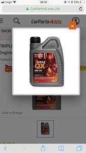 TRIPLE QX Semi Synthetic Engine Oil - 5W-30 - 1ltr £3.60 @Carparts4less with code