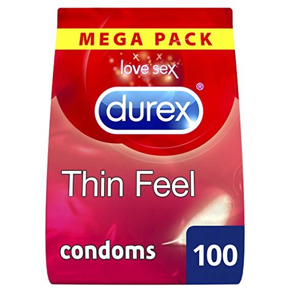 Durex Thin Feel Condoms, Pack of 100 £26.99 @ Amazon